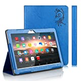 TOSICDO Case Coque étui pour Tablette Tactile 10.1 Pouces Compatible avec Tablet W109,K107,X104,X108 - Bleu