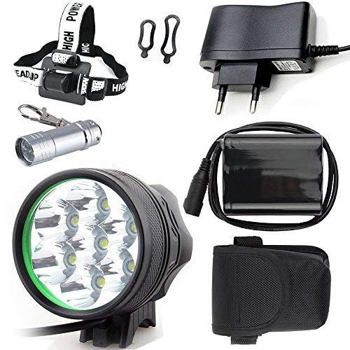 Faro Bicicletta Anteriore LED Luce luci per Bici Bicicletta MTB,Torcia da Testa Lampada Frontale Bici Faro,(3 Modalit¨¤,7 LED) CREE 7X CREE XML di Luce LED Bici & Torcia a LED da Portachiavi