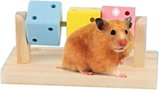 Hamster Chew Toy Wooden Platform Interactive Toy Exercise Teeth Care Molar for Rabbits Rat Guinea Pig Finches and Other Small Pets Play Toy