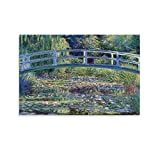 WMLGBO Claude Monet Paintings Monet Water Lily Pond Classic Art Cafe Living Room Poster Canvas Art Poster and Wall Art Picture Print Modern Family Bedroom Decor Posters 24x36inch(60x90cm)