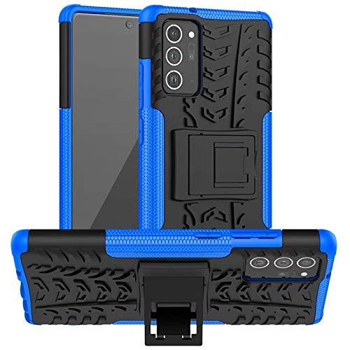 Conie Outdoor Hülle für Samsung Galaxy Note 20, verstärkte Schutzhülle rutschfest wasserabweisend Kantenschutz Rückschale Hülle in Blau