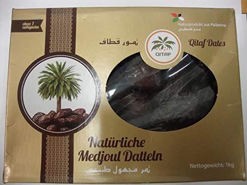 Dátiles Medjool de Palestina | 1 Kg de Dátiles de Origen Natural | Deshidratados | Sin azufre y Sin Azúcar | Frutos Secos Crudos | Veganos y Vegetarianos | Dorimed