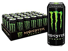 UNLEASH THE BEAST | Tear into a can of the meanest energy drink on the planet, Monster Energy. Athletes, musicians, anarchists, co-ed's, road warriors, metal heads, geeks, hipsters, and bikers dig it- you will too SMOOTH & EASY FLAVOR | Monster packs...