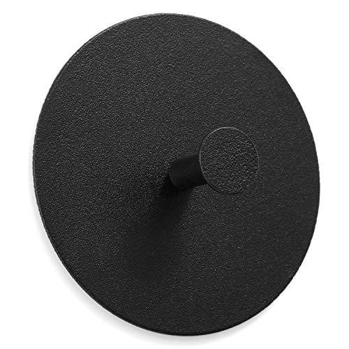 trand Wandhaken Handtuchhaken Schlüsselhaken | selbstklebend ohne Bohren | skandinavisches Design | Bunte Handtuchhalter Garderobenhaken (black/schwarz)