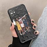 Kobe Jodan James - Funda para teléfono X/XS, XR, XS Max, material TPU de moda, carcasa suave, anticaída, ultrafina, diseño de estrella deportiva para fanáticos del baloncesto, color negro
