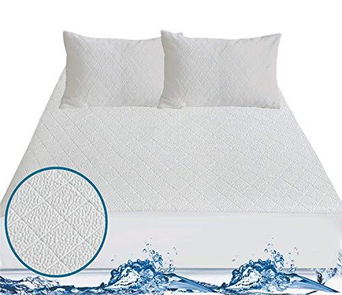 JD Linens Bamboo Mattress Protector - 100% Waterproof | Premium Microfiber | Hypoallergenic & Dust-mite Resistant | Exclusive Heat Insulation Technology (Single, Ivory)