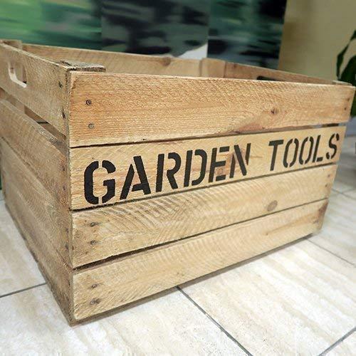 Garden Tool Box Storage - Garden Caddy - Gift for the Gardener - Vintage Apple Crate - Custom Stenciled [FLASH SALE TODAY]