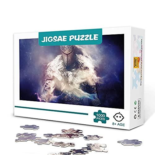 zhangkk Impossible Puzzle 1000 Piezas Top Juegos Dark Souls Ⅱ Puzzle Entretenimiento Juegos Familiares Rompecabezas Decoración del hogar Rompecabezas de Madera 75x50cm
