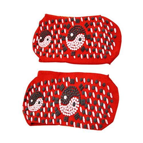 Symeas Chaussettes de soins de santé auto-chauffantes Thérapie magnétique Tourmaline Chaussettes de massage respirantes et confortables