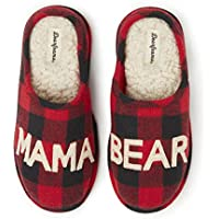 Dearfoams Women's Mama Bear Slipper (Buffalo Plaid)