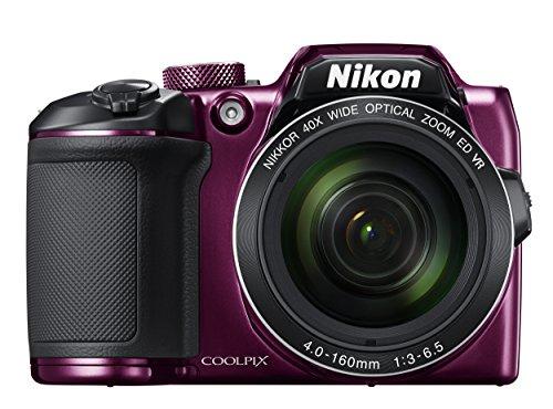 Nikon COOLPIX B500 16MP 40x Optical Zoom Digital Camera with Built-in Wi-Fi - (Plum) - (International Version)