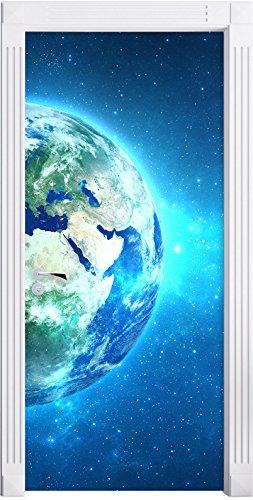 Stil.Zeit Möbel Terre dans l'univers comme Un Fond d'écran de la Porte, de la Taille: 200x90cm, Cadre de Porte, Porte Autocollants, décoration de Porte, Porte Autocollants