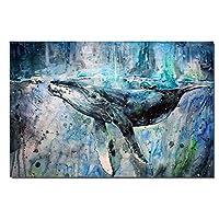 キャンバスに印刷する海の帆布絵画動物のキャンバスポスターと虎の絵画アート画像壁アート家の装飾壁画-60x90cmフレームなし