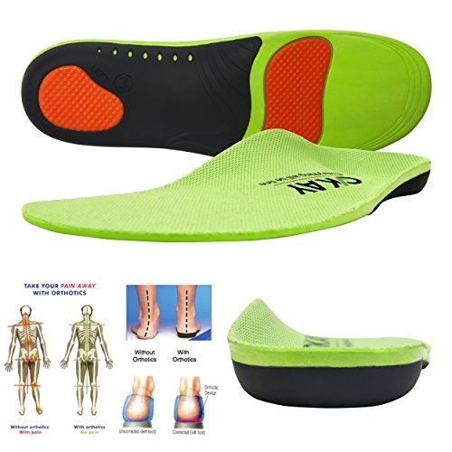 Arch Support Orthotic Shoe Insoles for Women-Men Shoe Inserts Recommended for Plantar Fasciitis Fallen Arches or Flat Feet Pain Relief, Injury Prevention and Faster Recovery