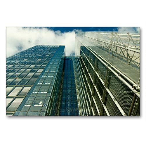Calvendo Portalámparas de Cristal con Efecto Espejo de una casa Alta con visión de Cielo, 90x60 cm