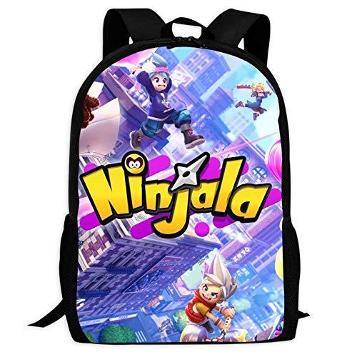 423 Nin-ja-la Children's Backpacks Rucksack for School,Fashion School Bags Travel Business Black