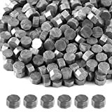 FEPITO 300Pcs Wax Sealing Beads for Wax Stamp Sealing, Perfect for Cards, Envelopes, Invitations, Wine Packages, Letter Sealing (Silver)