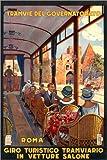 Poster 61 x 91 cm: Italien - mit der Straßenbahn durch Rom