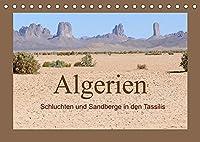 Algerien - Schluchten und Sandberge in den Tassilis (Tischkalender 2022 DIN A5 quer): Im Niemandsland zwischen Niger und Libyen (Monatskalender, 14 Seiten )