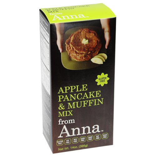 Apple Pancake and Muffin Mix, Breads from Anna, Gluten yeast soy rice corn dairy and nut free, 14 oz (pack of 6)