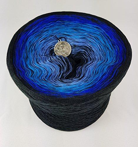 LiLu´s Märchengarne (69,00€/kg) Farbverlaufsgarn Adeliges Blut 400g - 1520m 4 fädig Bobbel Wolle handstrickgarn