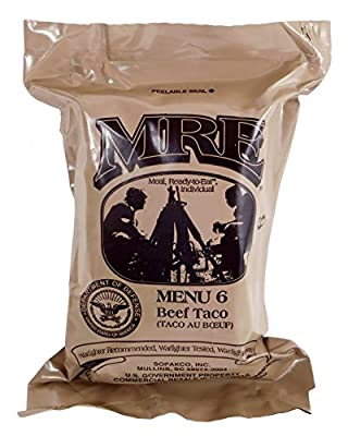Western Frontier MRE (Meals Ready-to-Eat) Select Your Meal, Genuine US Military Surplus Meals (Beef Taco (28))