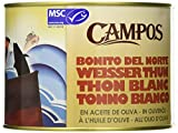 Campos, Conserva de Bonito del Norte de Pesca Certificada MSC en Aceite de Oliva, Lata de 1730 gr.