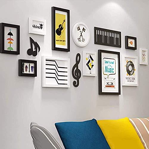 Fotobehang Muziek Creatieve Europese Minimalistische Stijl Effen Hout fotolijst Wandachtergrond Home Decoratie Muur