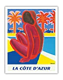 Pacifica Island Art Poster, Motiv La Côte d'Azur,