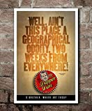 O Brother, Where Art Thou? Geographical Oddity Gifts for Lovers Poster Poster Home Art Wall Posters [No Framed]