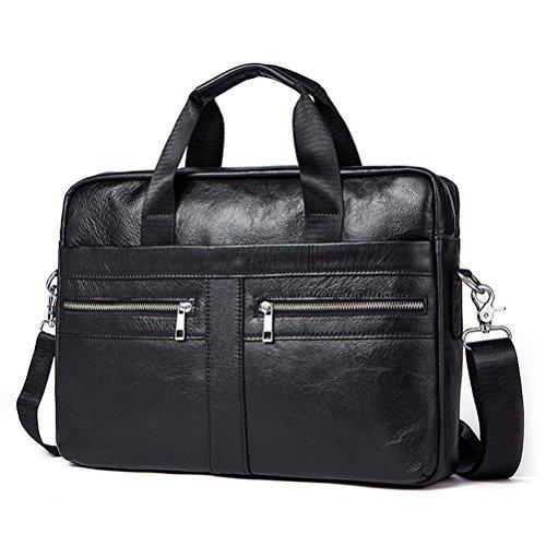 Briefcases Business Men Handbag 100% Premium Cow Leather Bag Men Messenger Bags Best Laptop Bags With Handle