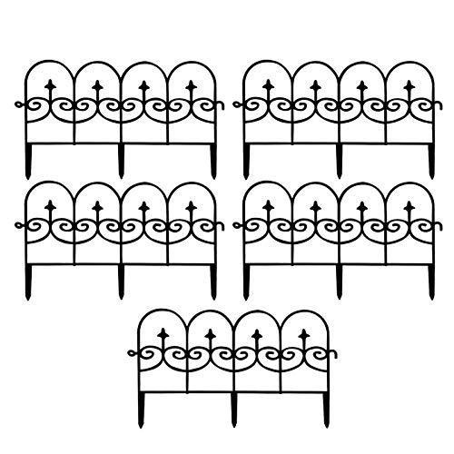 Dekorative Gartenzaun Metall Paneele 5 Stücke Metall Rostfreie Landschaft Schmiedeeisen Draht Grenzgrenze Falten Tatio Fenzen Flower Bett Fencing Barriere