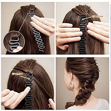 Flechtwerkzeug French Flechtwerkzeug Roller Mit Magic Hair Twist Styling Bun Maker Amazon De Beauty