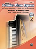 Premier Piano Express, Bk 1: All-In-One Accelerated Course, Book, CD-ROM & Online Audio & Software (Premier Piano Course)