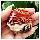 YSJJWDV Piedra de Cristal Seda Natural ágata ágata ágata Palma Piedras jugueturas Piedras pequeñas y Cristales de curación de Cristales (Color : A238 66g)