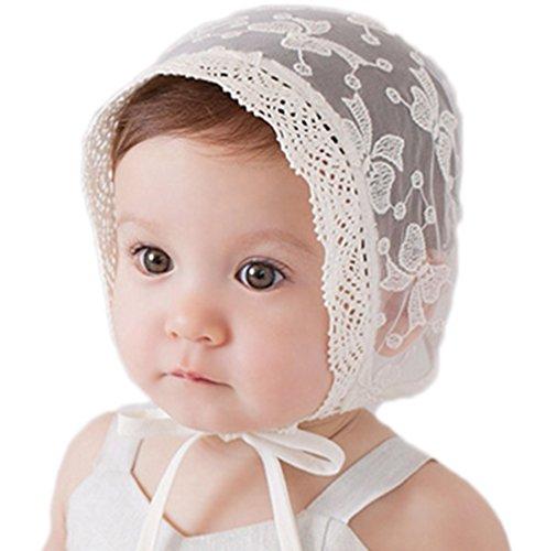 Leisial Niñas Sombrero de Pesca Princesa Sombrero del Sol con Encaje al Aire Libre Protector Solar para Bebé