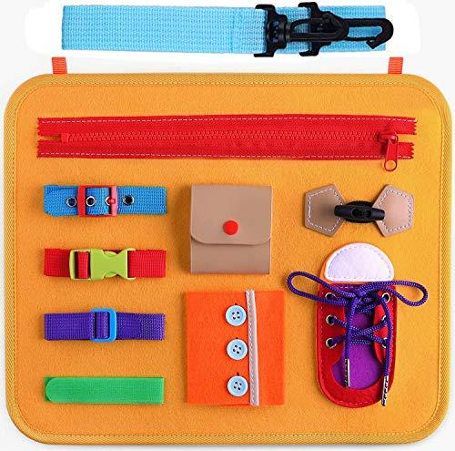 Goorder Busy Board, Bebés Tablero Sensorial Montessori, Juguetes Educativos para Niño de 1 2 3 4 Años, Juguete Actividades Habilidades Motoras, Regalo de Cumpleaños para Niños Niñas Bebe Pequeños