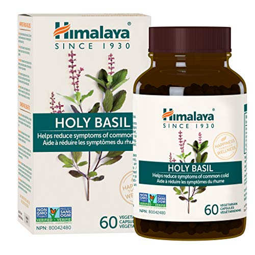 Himalaya Organic Holy Basil, Equivalent to 5,225 mg of Holy Basil / Tulsi powder, for Stress relief, Calm & Relaxation, 60 capsules