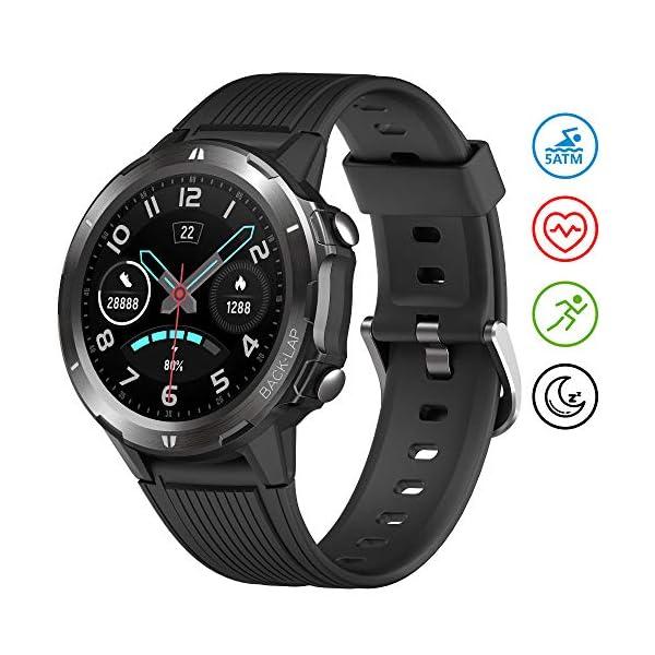 UMIDIGI Uwatch GT Smartwatch Hombre Reloj Inteligente 5ATM Impermeable con Cronómetro Pulsera Actividad de Fitness con… 1