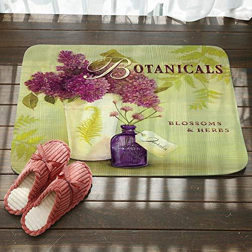 Deurmat, 3D-gedrukte hortensia, bloempot, antislip, voor thuis, woonkamer, keuken 50×80cm