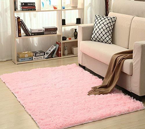 BYSDSG Superweiche Seide Wollteppich Indoor Modern Shag Area Rug Seidige Teppiche Schlafzimmer...