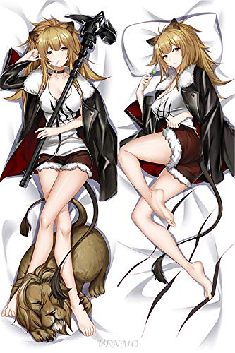VENMO Siege - Arknights Japanese 160x50cm(62.9in x 19.6in) 2 Way Tricot Pillowcases Hugging pillowcover Anime Body Pillow Case Pillowcase Hugging Pillow Cushion Cover