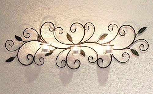 DanDiBo Wandteelichthalter 131003 Teelichthalter Metall 75 cm Wandleuchter Kerzenhalter