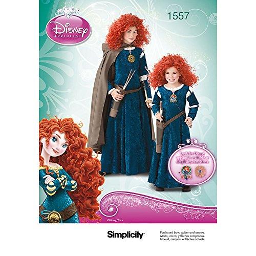 Simplicity Tamaño de us1557hh HH Infantil y de niña Disney Disfraz de Brave