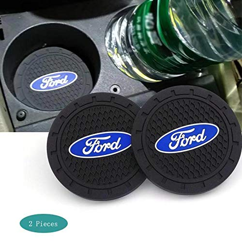 SHENGYAWAUTO Car Interior Accessories Cup Holder,Anti Slip Cup Mat Insert for Ford All Models 2 Packs,2.75 inch