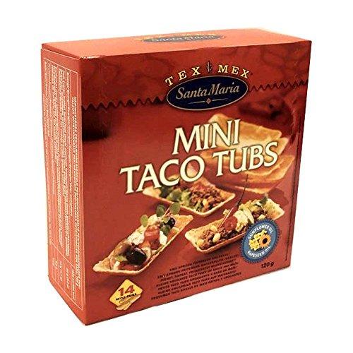 Santa Maria Mini Taco Tubes 120g Packung (Kleine Taco Schalen)