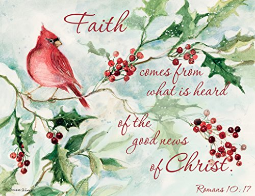 LANG - 'Cardinal and Berries', Boxed Christmas Cards, Artwork by Susan Winget' - 18 Cards, 19 envelopes - 5.375' x 6.875'