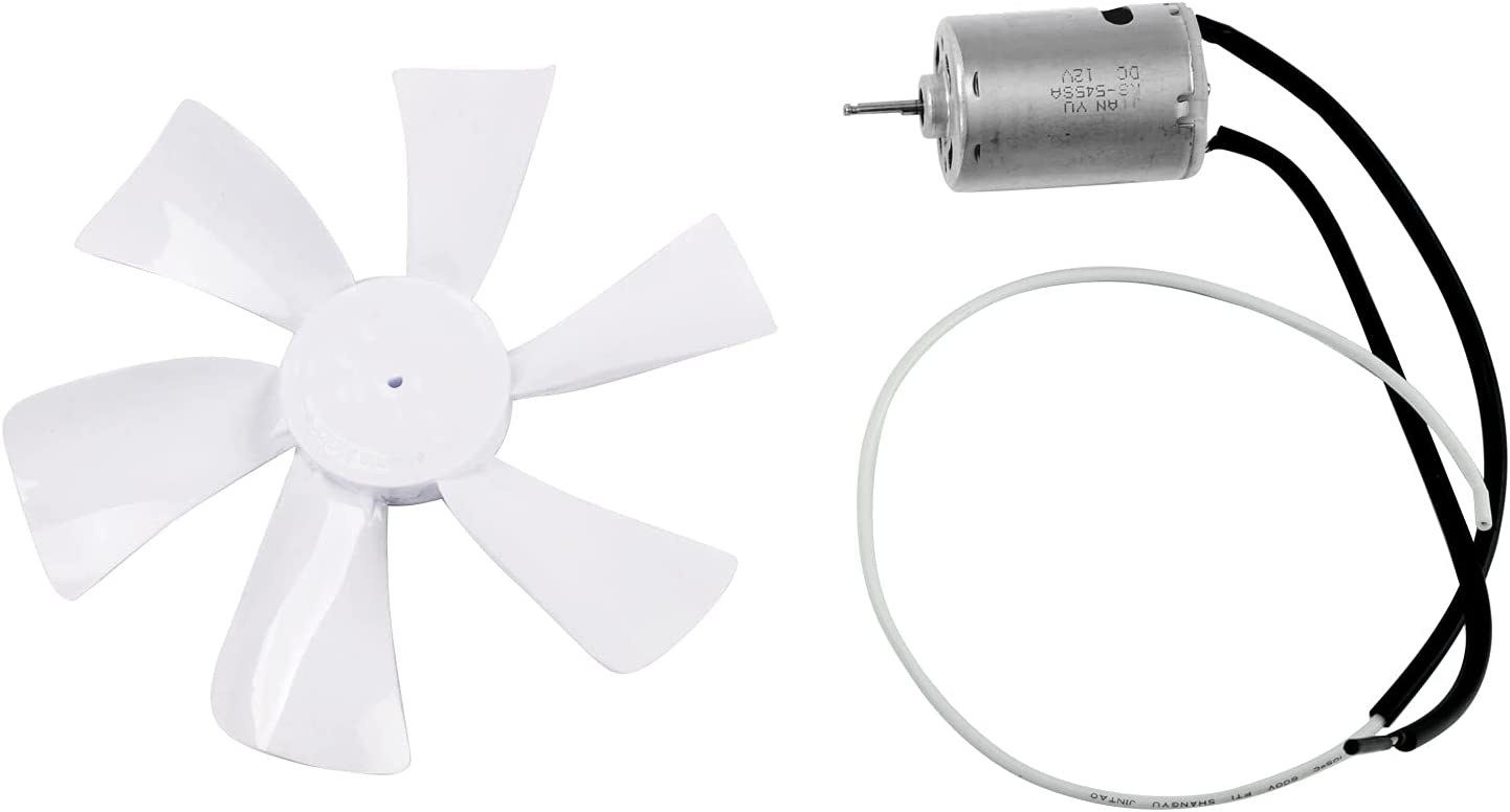White 6 inch New products, world's highest quality popular! RV Fan 12V D Blade Shaft Camper Bombing free shipping Replacement B -