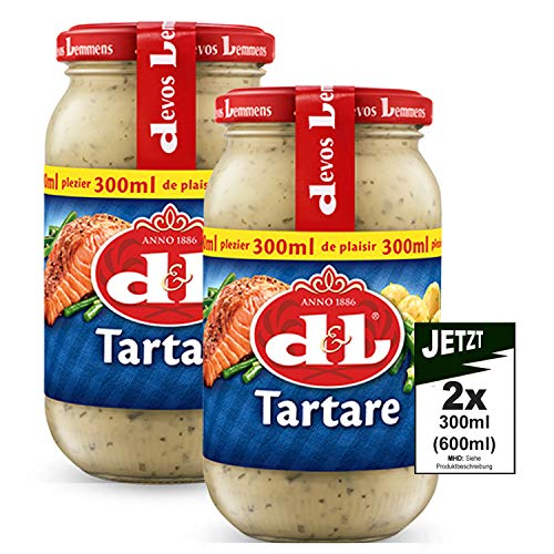 Devos Lemmens D & L Tartare Sauce 2x 300ml (600ml) - ideal zu Fisch und Meeresfrüchte