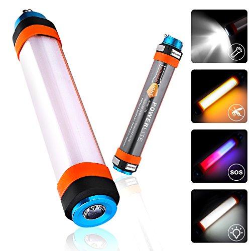 Audew Camping Laterne LED Licht Mehrzweck-Taschenlampe Notfallleuchte Moskito-Lampe SOS Lichter 6 Modi Outdoor Latern 5200mAh USB Power Bank IP68 Wasserdicht[Energieklasse A+]